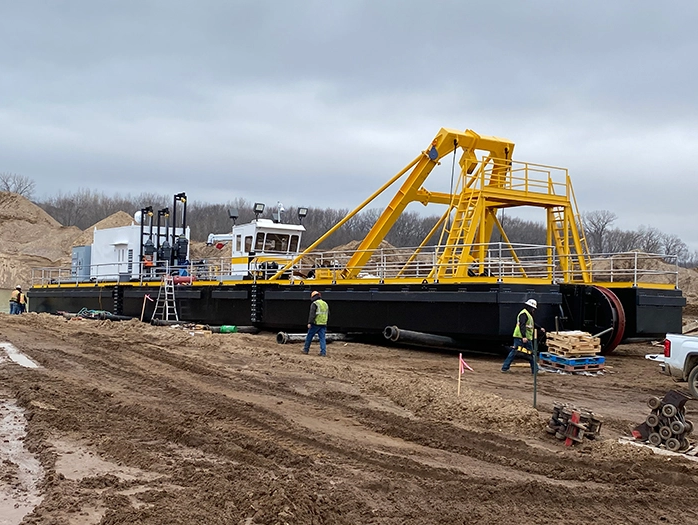Custom Dredge Works Delivers New Electric Chain-Ladder Dredge to Legacy Materials