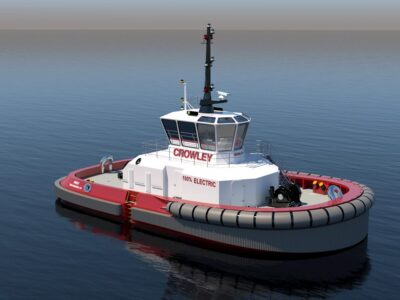 Crowley and ABB partner for first new all-electric USA tug, for San Diego